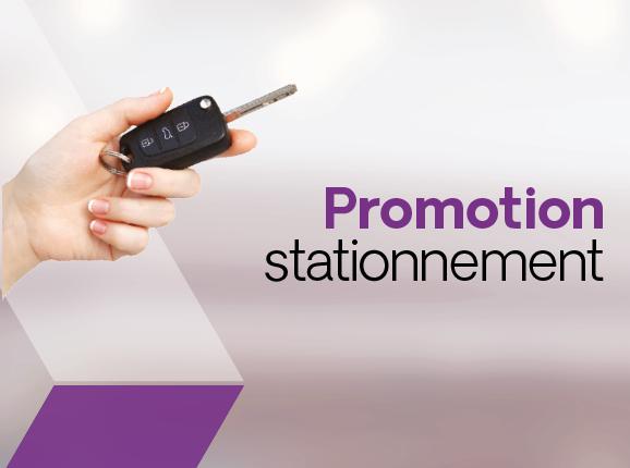 Promotion stationnement